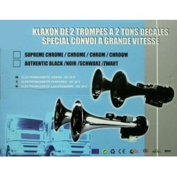 TROMPES CGV 2 TONS CHROME OU NOIR