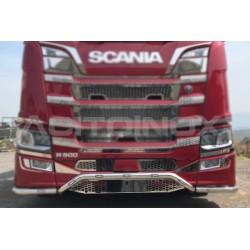 RAMPE INOX AVEC SUPPORT DE PLAQUE SCANIA N-G S/R