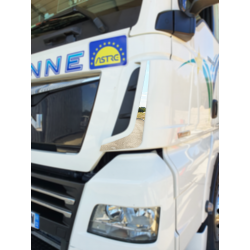 HABILLAGE INOX ANGLES DÉFLECTEUR MAN TGX EURO 6