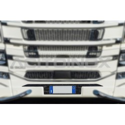 SUPPORT INOX PLAQUE IMMATRICULATION SCANIA N-G SERIE S/R